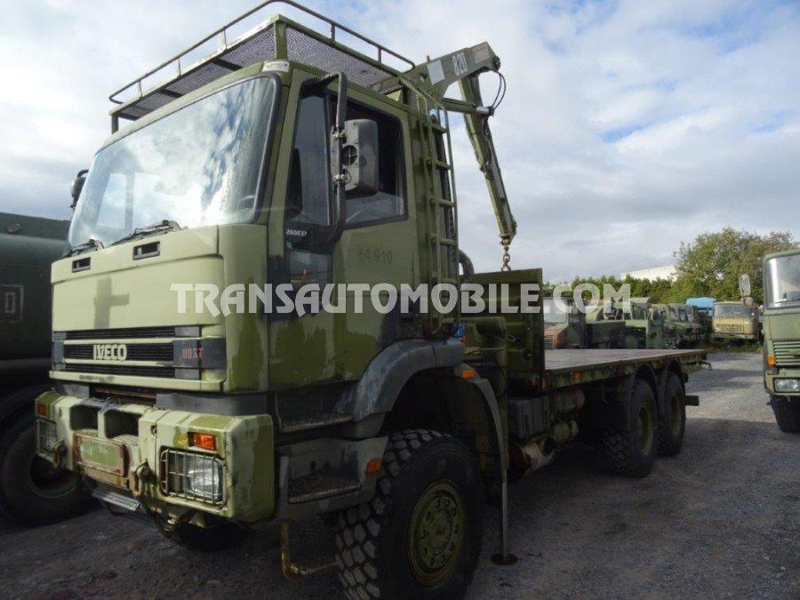 Iveco Eurotrakker 260E37 Diesel MP GRUE PLATEAU - CRANE FLATBED