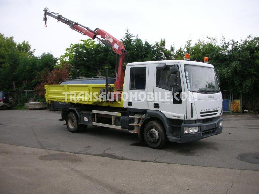 Import / export Iveco  EUROCARGO ML130E18D Diesel 1 plateau grue + 1 plateau