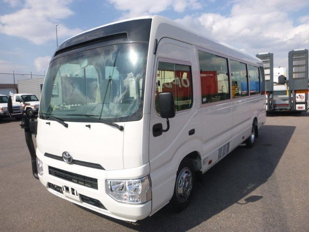 Export TOYOTA Coaster Bus 22 seats 4.2L  Luxe